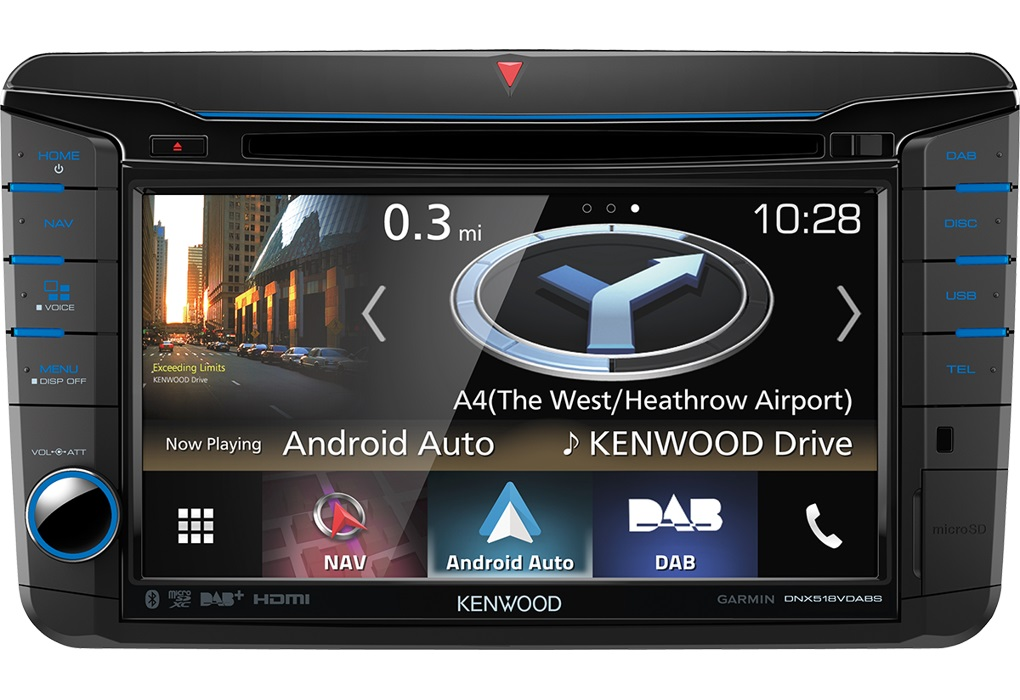"Kenwood DNX-518VDABS ""APPLE CARPLAY"""