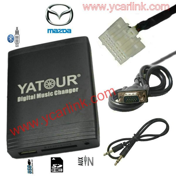 Mazda AUX, USB + 3,5mm interface